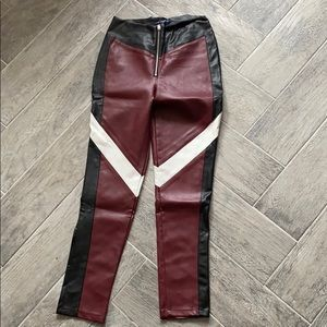 Thermo Jeans Wet Look Pants Faux Leather Imitation Leather BootCut flared pants